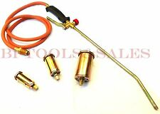 Propane Torch w/ 3 Nozzles Roofing Torch Ice Melt Weed Burner Fire Starter Torch