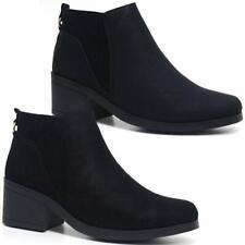 Ladies Block Heel Shoes Women Smart Office Work Ankle Chelsea Winter Boots Shoes