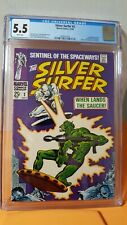 Silver Surfer #2 10/68 CGC 5.5 WHITE pages 1st Brotherhood of Badoon