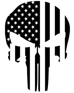 Cerakote Duracoat Stencil Punisher Skull Flag Stars Stripes Airbrush Painting