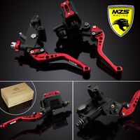 MZS Red Brake Clutch Levers Master Cylinder Reservoir For Yamaha R1/R6 YZ125