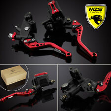 MZS Brake Clutch Levers Master Cylinder Reservoir For Honda CBR600F/F2/F3/F4/F4i