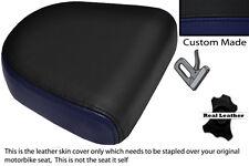Azul Marino Y Negro Custom encaja Hyosung Gv 650 Aquila 04-11 respaldo cojín cubierta
