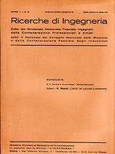 RICERCHE DI INGEGNERIA - anno II - bimestrale n. 5 - settembre/ottobre 1934