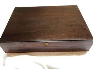 NAKEN Wood Silverware Flatware Storage Chest Box Case Anti-Tarnish Dovetail  #8