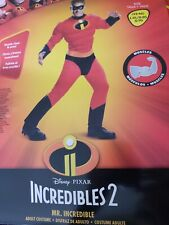 Incredibles 2 Mr. Incredible Classic Muscle Costume- Men's size L/XL- New!