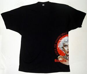 UNWORN UNWASHED 2009 BLONDIE RARE SIDE PRINT T SHIRT SIZE XL CALL ME INVINCIBLE