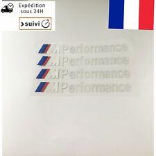X 4 Stickers M Performance BMW BLANC autocollants Embleme Neuf