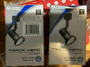 4 pack Lithonia Lighting Track Head Halogen 50W MR16GU10 Bulb Included black
