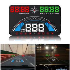 "5.8"" Windshield HUD Head Up Display LED Digital Screen OBD GPS Overspeed Warning"
