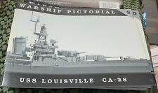 USS LOUISVILLE CA-28 WARSHIP PICTORIAL #3 CLASSIC WARSHIPS PUB RARE OOP