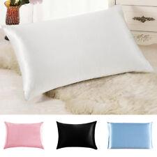 1x Soft 100% Mulberry Pure Silk Pillowcase Covers Queen Standard Pillow Case UK