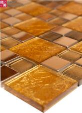 Mosaico de Cristal Azulejos mosaikglas VIDRIO ACERO INOX Oro Plata 1m ²