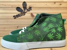 2011 Huf Hupper 420 Limited Pack sz 8 Green with Leaf Plantlife Socks SC