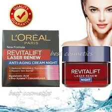 L'Oreal Revitalift Laser Renew Anti Ageing Face Night Cream Hyaluronic Acid 50ml