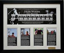 Tiger Woods 'the master' Limited Edition Signed Framed Memorabilia