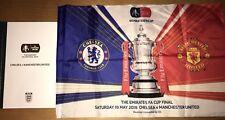 FA Cup Final 2018 VIP Hardback Programme Chelsea v Manchester United (Man Utd)