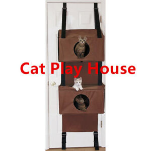 Sortwise® Cat Scratched Hammock Condo Kitten Big House Post Bed Toys Furniture