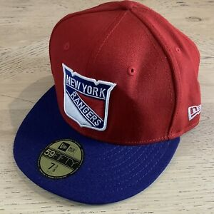 New York Rangers New Era 59Fifty NHL Fitted Hat •Size 7 3/8 with Stickers