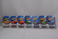 Hot Wheels Set of 7 Ferrari Corvette BMW Ford Focus WRX STI Mini Countryman NIB