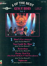 "5 OF THE BEST ""GUNS AND ROSES VOL 2"" GUITAR /VOCAL MUSIC BOOK ON SALE"