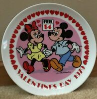 Vintage Mickey and Minnie Valentine's Day 1979 Decorative Plate by Schmid