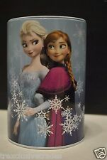 Disney Frozen Elsa & Anna Round Tin Saving Money Bank Gift in Blue NEW