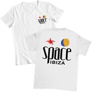 Space Ibiza Beach Club Logo Men's T shirt WHITE Festival Top Beefa Night Club