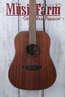 Luna Gypsy Dreadnought 12 String Acoustic Guitar Satin Natural GYP D12 MAH