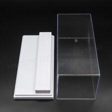 ES Caja Transparente de Acrilico 20cm L 2Pasos Blanco Caso a Prueba de Polvo UV