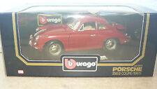 BURAGO modello di auto 1:18 PORSCHE 365 B COUPE 1961 IN SCATOLA ORIGINALE