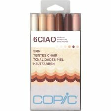Copic Ciao Markers-SKIN TONES Colors-SEALED Brand NEW- 6pk