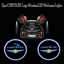2Pcs/Set wireless LED car door logo shadow welcome light project for Chrysler