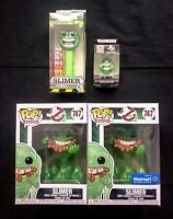 Funko Pop! Ghostbusters 35th Anniversary Slimer Bundle [Walmart, Pez, Keychain]