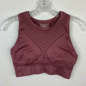 Athleta Trophy Seamless Bralette Extra Small Crushed Berry Mauve Pink Die Cut