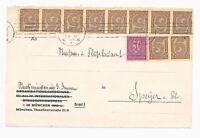 DR MiNr D 73 D 33 10x Briefvorderseite München nach Speyer