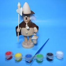 Räuchermann naturbelassen 15 cm zum selber bemalen + Pinsel und Farben DIY