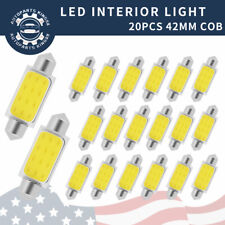 Cold White 42mm COB Festoon Led Interior Map Dome Light Bulbs 211-2 578 20PCS