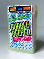 GLOW-IN-THE-DARK Vintage 1996 Amurol BUBBLE BEEPER Gum Container candy SEALED S3