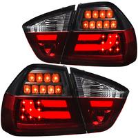 LED Lightbar Rückleuchten Set für BMW 3er E90 Limousine Bj. 05-08 rot smoke