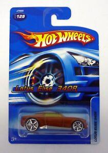 HOT WHEELS LOTUS ELISE 340R #129 Die-Cast Car ERROR / MOC COMPLETE 2005