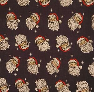 Vintage Santa- Navy Christmas Craft Bunting Patchwork Polycotton Fabric