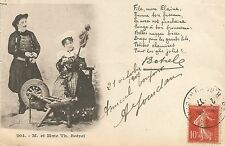 French Popular Singer Theodore Botrel & Wife Postcard 1907