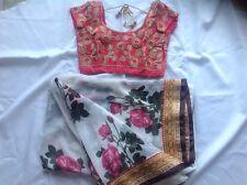 bollywood saree-salwar-anarkali-sari-kurti-choli-saree-with- stitched blouse