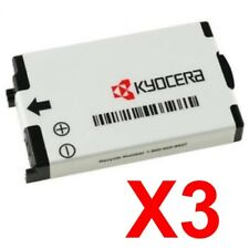 Lot Of 3 Kyocera Txbat10009 Batteries For Kx414 K490 K493 3225 324 Ke413 Blade