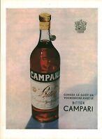 Publicité ancienne boisson bitter Campari 1951 issue de magazine