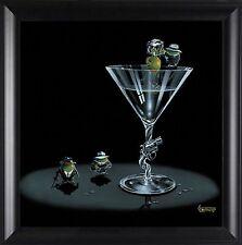 """Michael Godard,"""" Gangster Martini """", Framed Art, 16x16"""