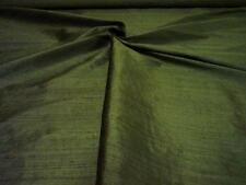 "Pure Silk Fabric Dupion Handloom 54"" Wide MOSS Price By Half Metre"