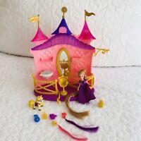 Disney Tangled Princess Rapunzel Polly Pocket Magiclip Doll Hair Salon House Lot