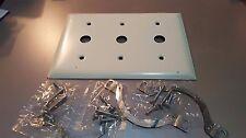 QTY: 9 - Pass & SeymourSP32-W3 Gang Communications Plates - Metal back - White